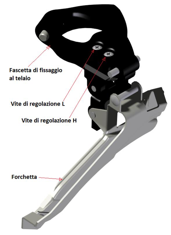 Il deragliatore anteriore: come è fatto e come funziona