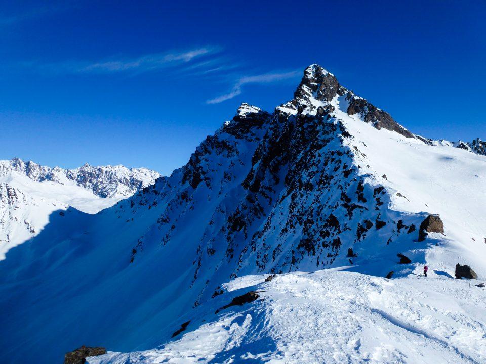 Cima Casaiole (2783 m) e Monte Tonale Occidentale (2694 m) da Ponte di Legno– 06/01/2020