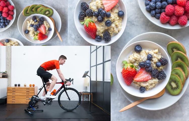 La colazione e lo spuntino per gli allenamenti sui rulli